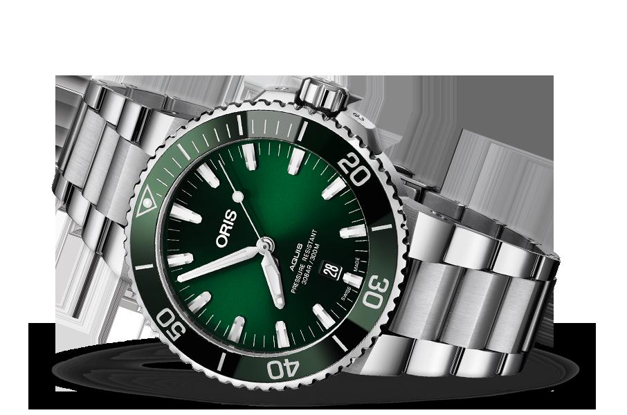 339e12fa055 Oris Aquis Date Green Dial Video Review - Timepieces Blog