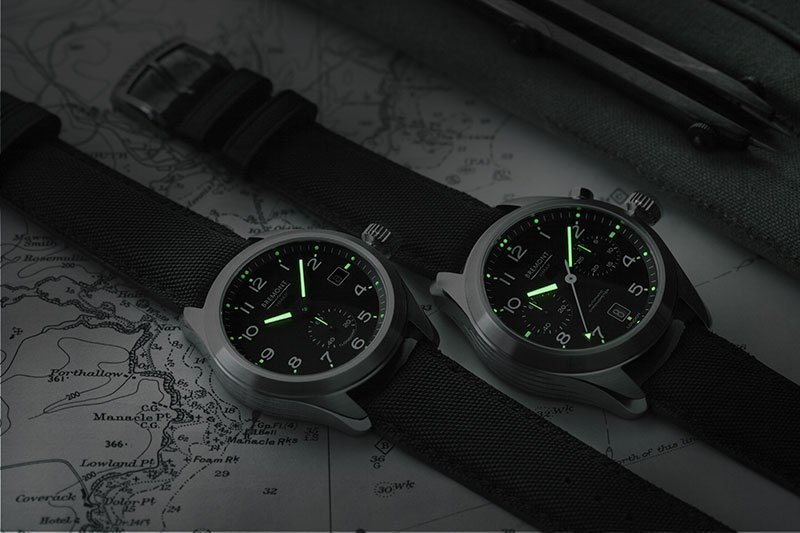 Bremont Armed Forces with custom green Super-LumiNova