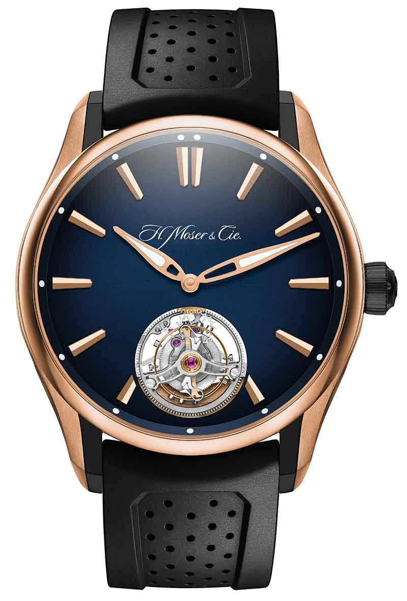 H. MOSER & CIE. PIONEER TOURBILLON MIDNIGHT BLUE GOLD TITANIUM
