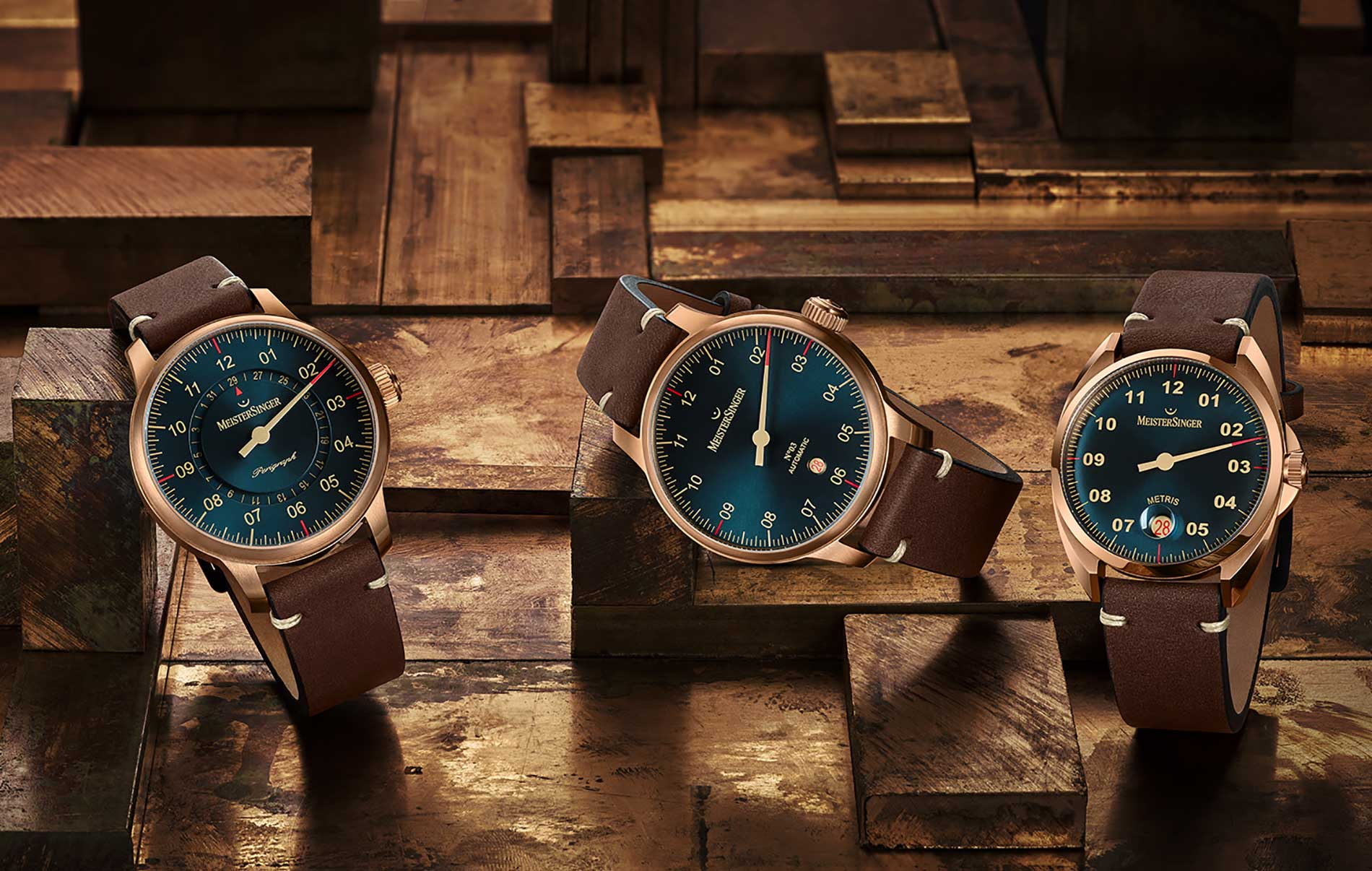 MeisterSinger presents the first three watches in its new Bronze Line