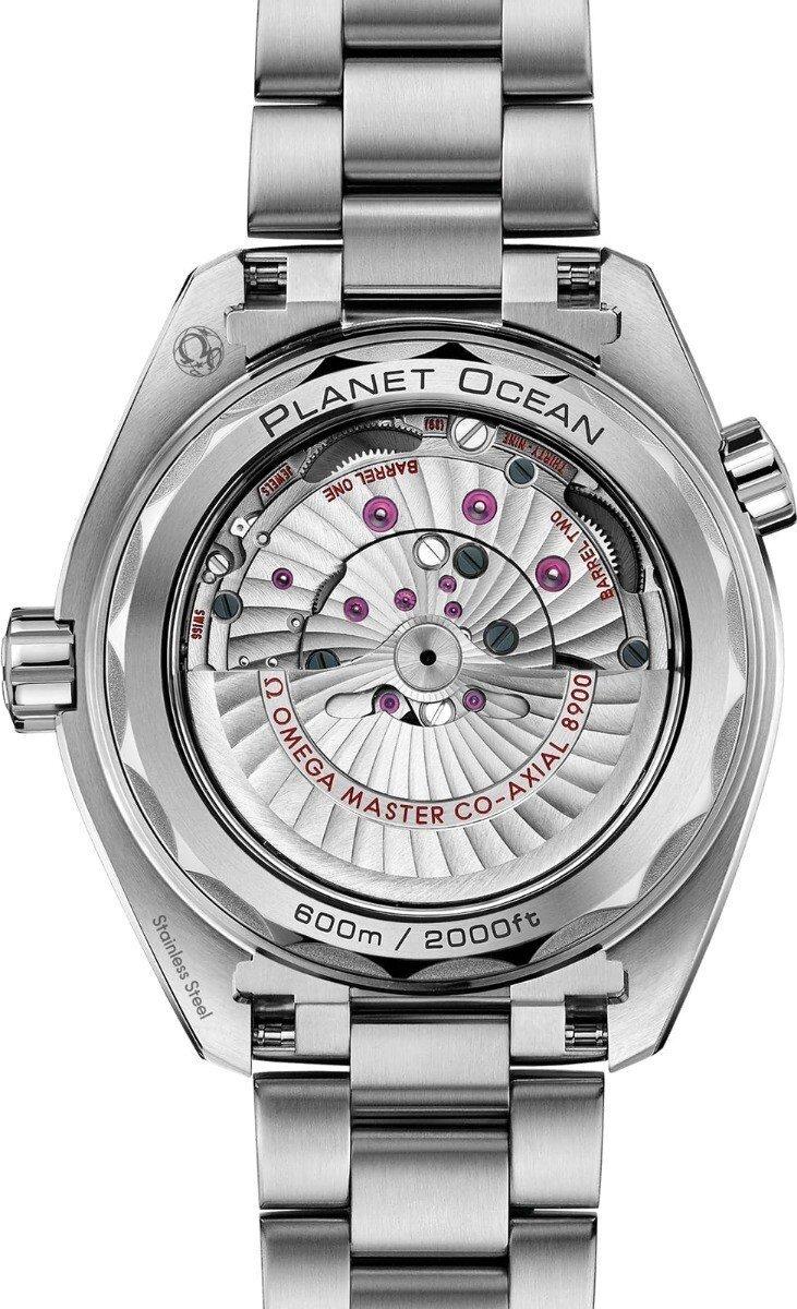 Omega Seamaster Planet Ocean 600M Master Chronometer Orange Back