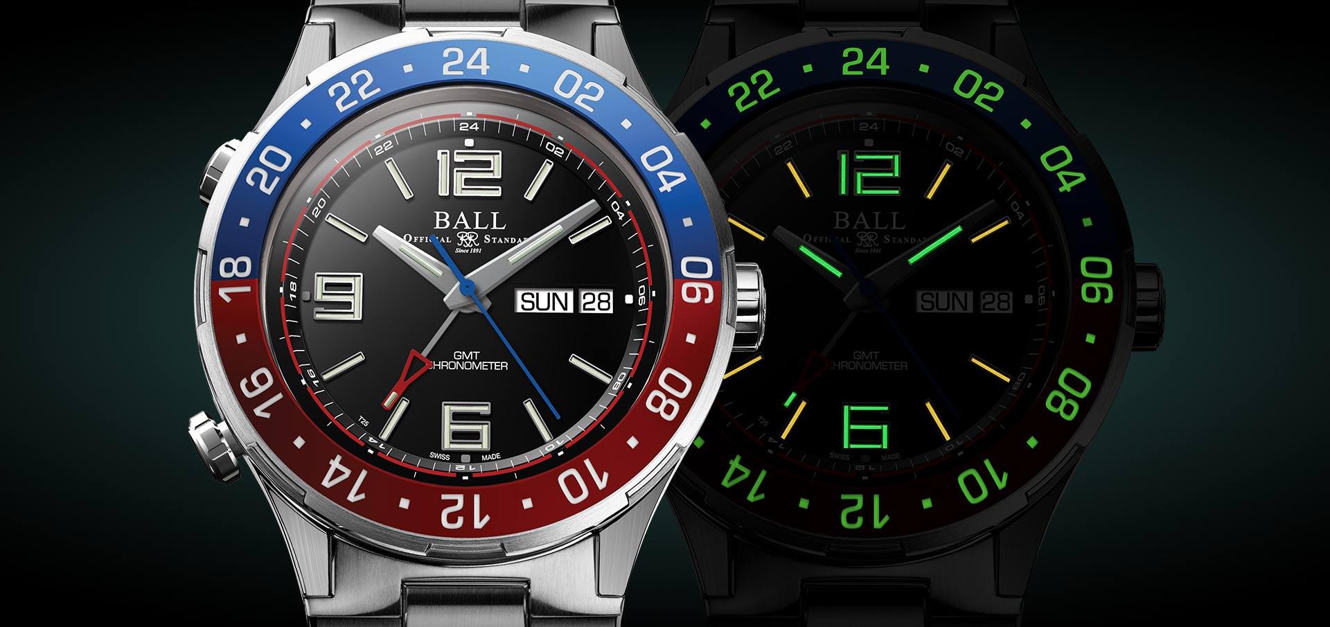 Ball Roadmaster Marine GMT Black Dial
