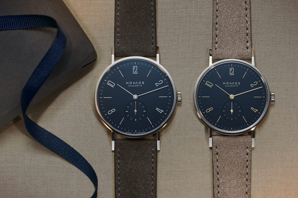 Tangente 38 midnight blue radiates elegance in silver—while gold
