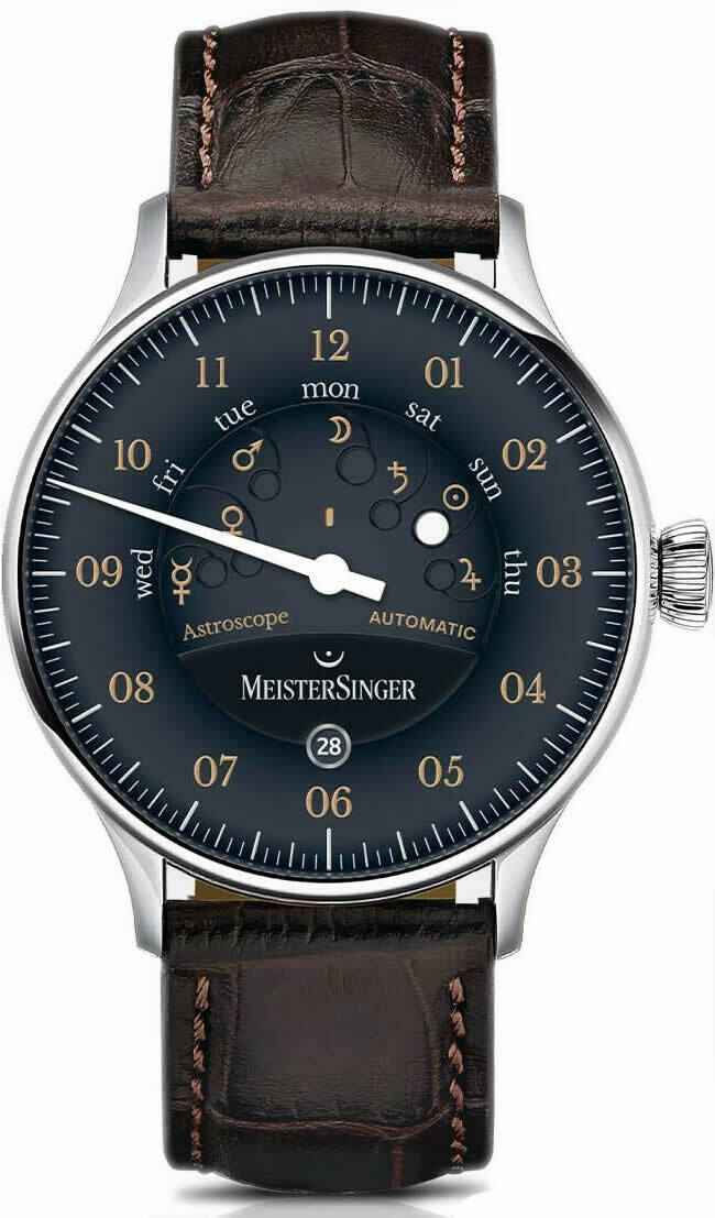 MeisterSinger Astroscope Black Old Radium