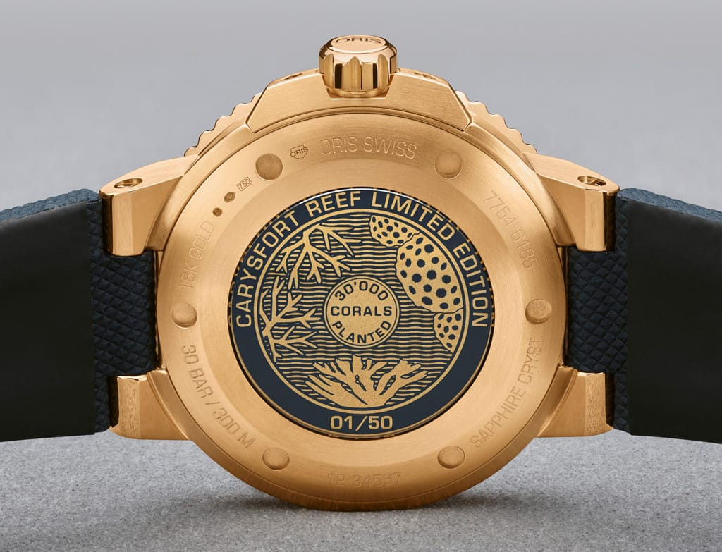 Oris Carysfort Reef Gold Limited Edition - Back Case